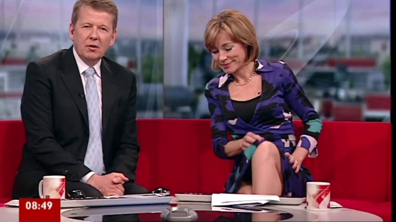 Sian Williams actual stockings flash - YouTube