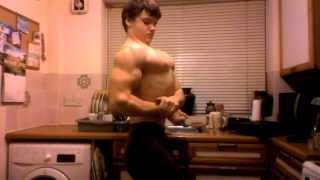 15 year old bodybuilder posing update !!!