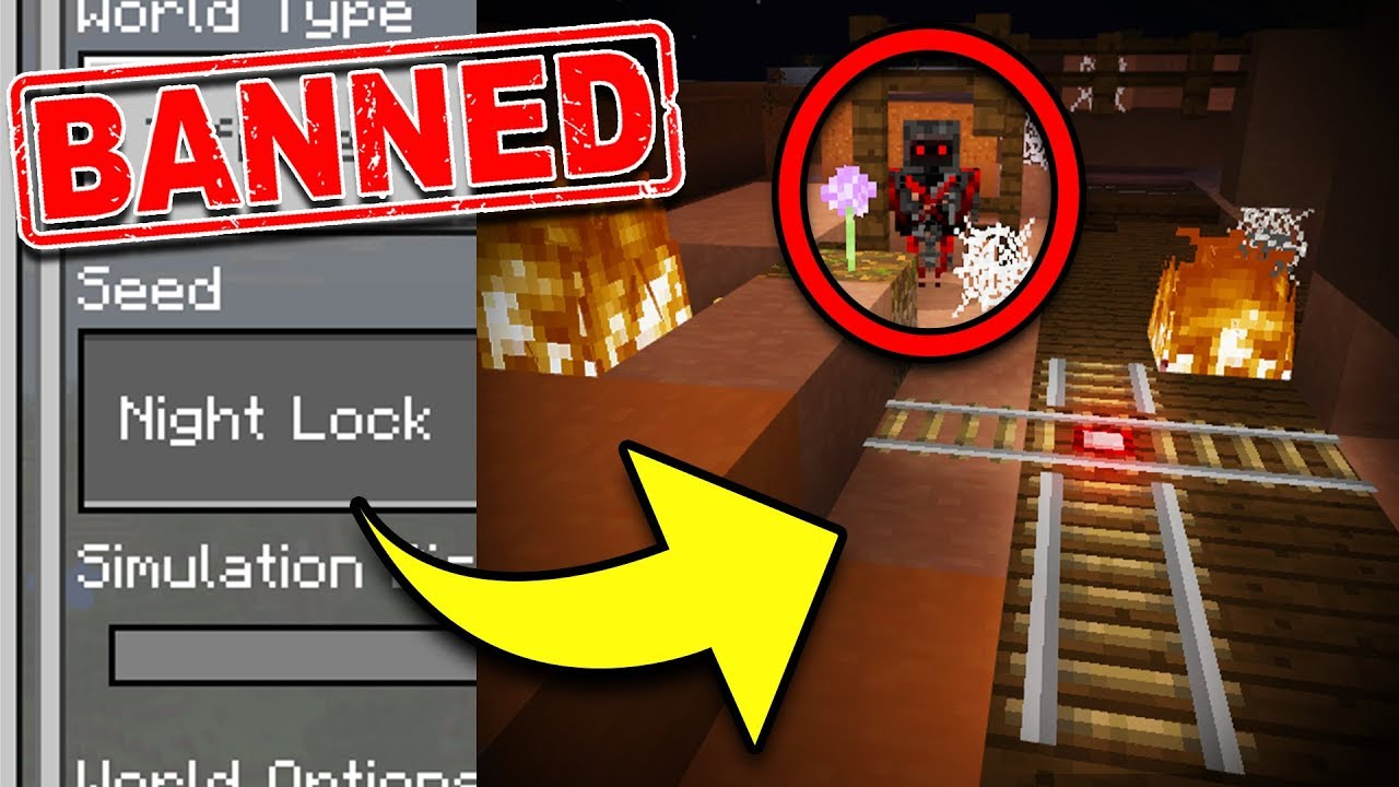 This Seed Is Banned In Minecraft Scary Youtube