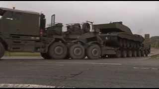 British Army Transports Vehicles to NATO Exercise 29.09.14