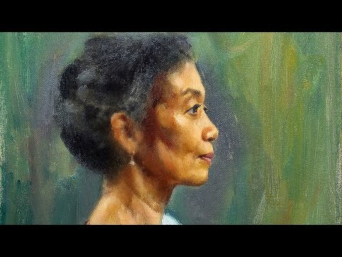 Oil painting Profile Portrait by Paul Barton, artist