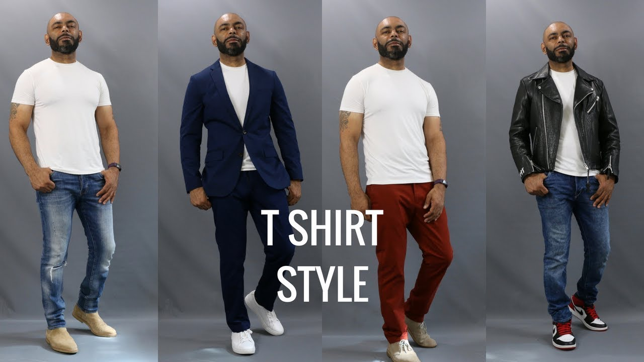 How To Wear A White T Shirt How To Style A White T Shirt Youtube