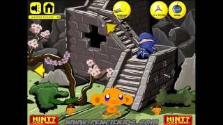 Monkey Go Happy Ninjas 2 - Návod - Walkthrough