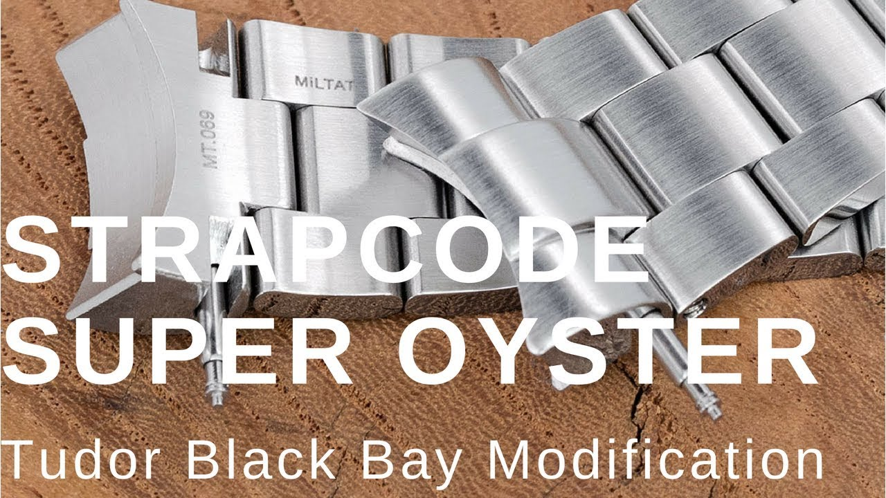 00e1e98ce24f 4K) Strapcode Super 3D Oyster Bracelet for Tudor Black Bay - YouTube