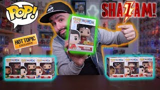 New Shazam Funko Pops + Glow Hot Topic Exclusive Haul & Review!