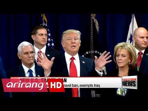 President Trump signs new travel ban, exempts Iraq