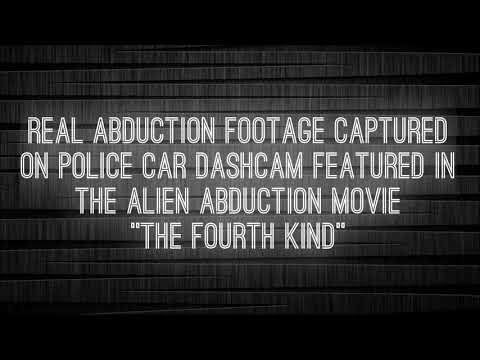 """Real Abduction Footage Captured on Police Car Dash Cam Featured in the Movie """"The Fourth Kind""""."""