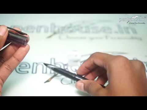 Uniball Air micro Model: 14755 UBA-188-M Black color design body with Black ink cap type Gel pen