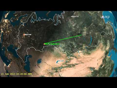 Russian meteor crash Feb 15, 2013 - unrelated to Asteroid DA14