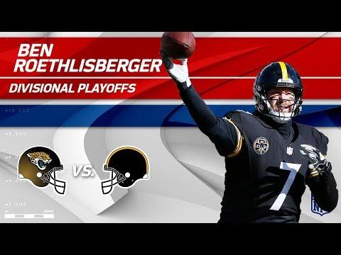 Ben Roethlisberger's Unbelievable 5 TDs!  Jaguars vs. Steelers  Divisional Round Player HLs