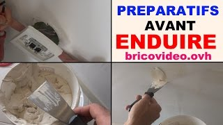 enduire un mur intérieur les préparatifs, pourquoi enduire enduit rebouchage (mur placo, ba13)