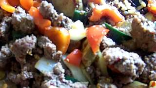 Spicy Beef Stir-Fry Fresh Garden Vegetables Wild & Brown Rice 22 Chef John the Ghetto Gourmet