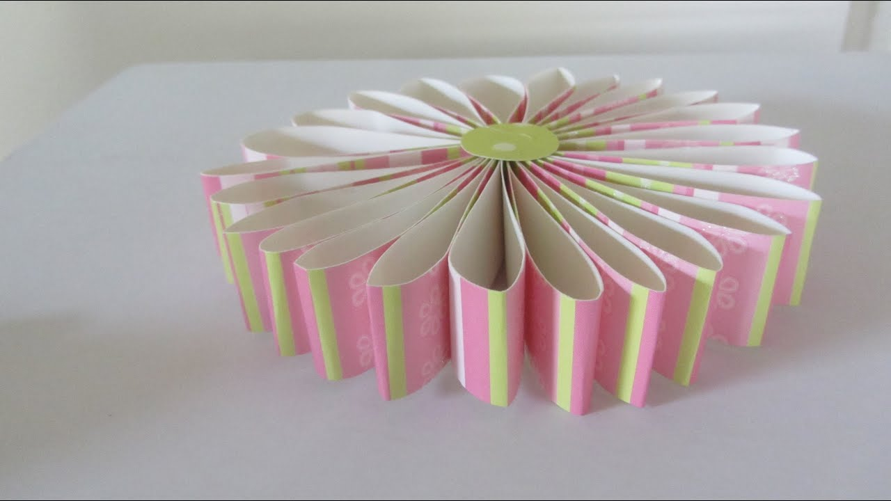 How To Make A Scrapbook Rosette Paper Flower Gift Topper Craft