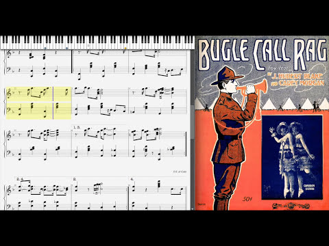 Bugle Call Rag by Eubie Blake & Carey Morgan (1916, Ragtime piano)