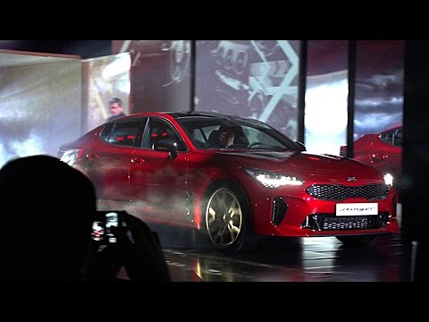 European Premiere of the new Kia Stinger GT in Milan