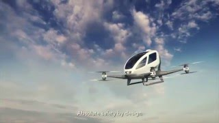 Ehang 184, a Chinese One-man Drone (skeptical)