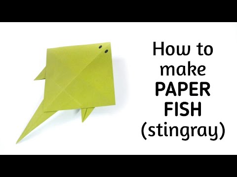 How To Make Origami Paper Fish (Stingray) - 5 | Origami / Paper Folding Craft, Videos & Tutorials.
