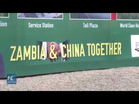 Zambia launches construction work of China funded mega road project