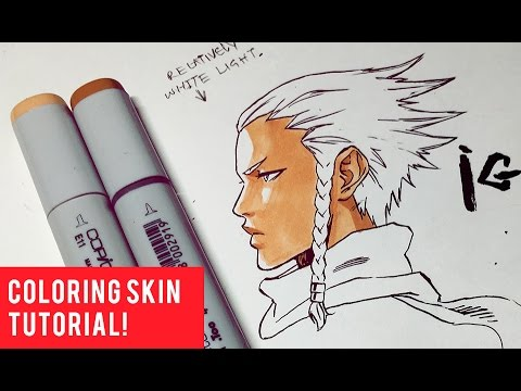 How To Color Skin with COPIC Markers Easily