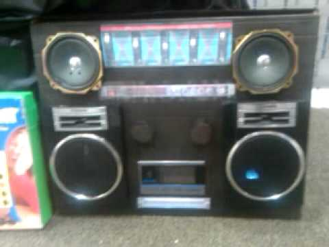 Boombox someone made as Christmas party decor