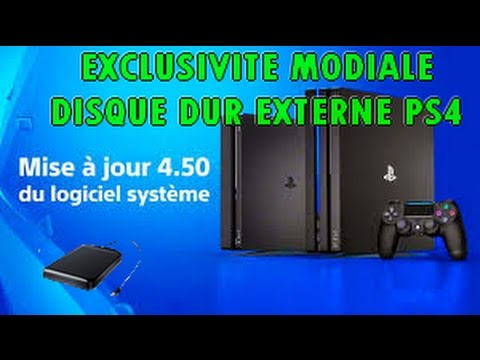 exclusivite mondial disque dur externe ps4 playstaton sony youtube