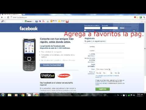 Facebook en la barra de tareas youtube