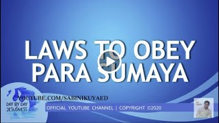 Ed Lapiz - Laws to Obey Para Sumaya🆕ed Lapiz Latest Sermon 👉 Review EdLapiz Latest Sermon New Video👉