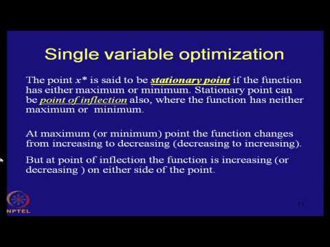 Mod-01 Lec-21 Classical optimization techniques : Single var