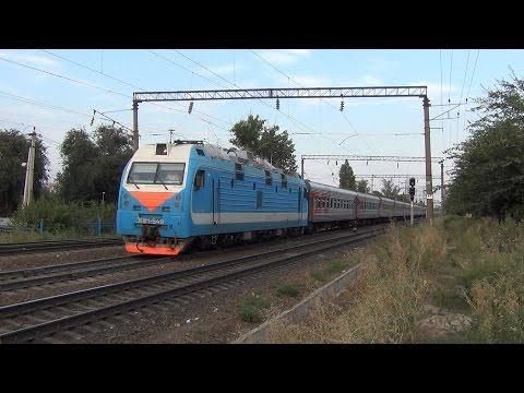Электровоз ЭП1М-549 с поездом №58 Иркутск — Кисловодск