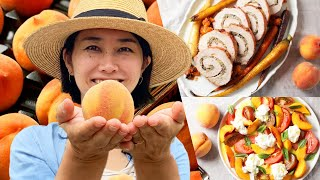 Rie Makes A 3-Course Meal With Peaches In Every Dish