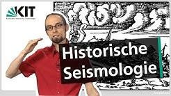 Brückenkurs Geophysik: Historische Seismologie