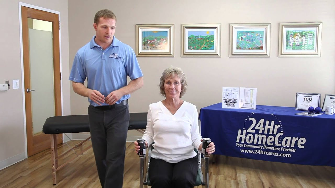 Chair exercises for seniors - Physical Therapy Exercises For Seniors Chair Exercises For The Upper Body 24hr Homecare Youtube