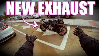 CHEAPEST Yamaha R1 EXHAUST on AMAZON... Is it any GOOD? R15 Độ PXL