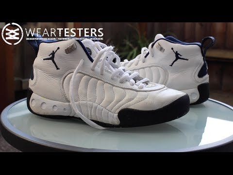 7a2efd4255d5ad Original Jordan Jumpman Pro White  Navy + How to Tell if Your Shoes Are  Wearable. WearTesters