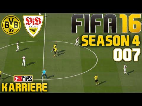 Borussia Dortmund vs. VfB Stuttgart   FIFA 16 KARRIERE (SEASON 4) #007   Let's Play