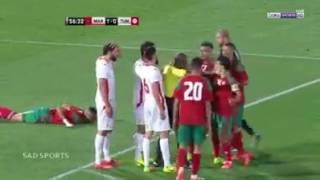 تصديات فاروق بن مصطفى في مباراة تونس والمغرب ❤