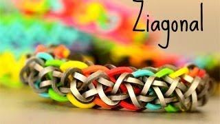 How to Make a Ziagonal Rainbow Loom Bracelet