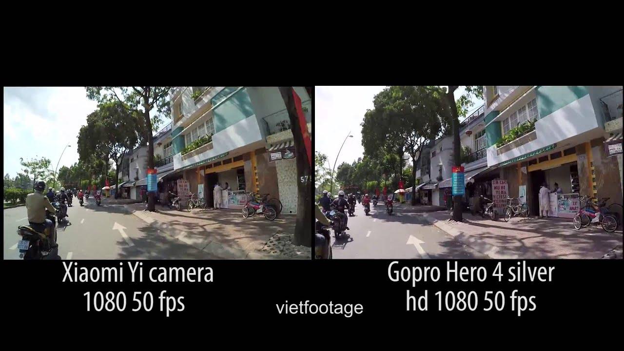 Xiaomi Yi Camera Vs GoPro HERO4 Silver