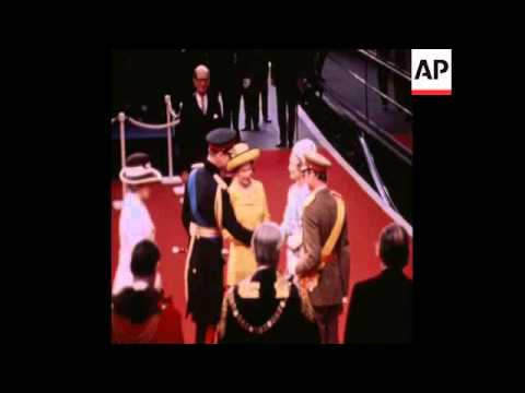 SYND 13/6/72 DUKE AND DUCHESS OF LUXEMBOURG GREETED BY QUEEN