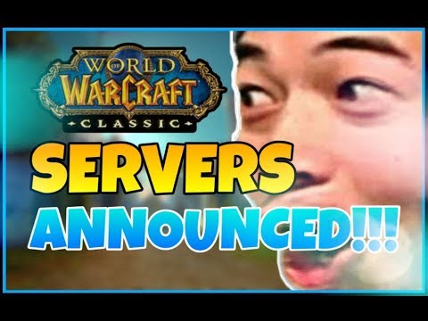 CLASSIC WOW SERVERS ANNOUNCED!!!