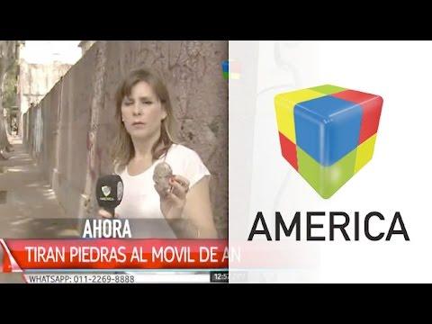 Agredieron con piedras al móvil de América Noticias