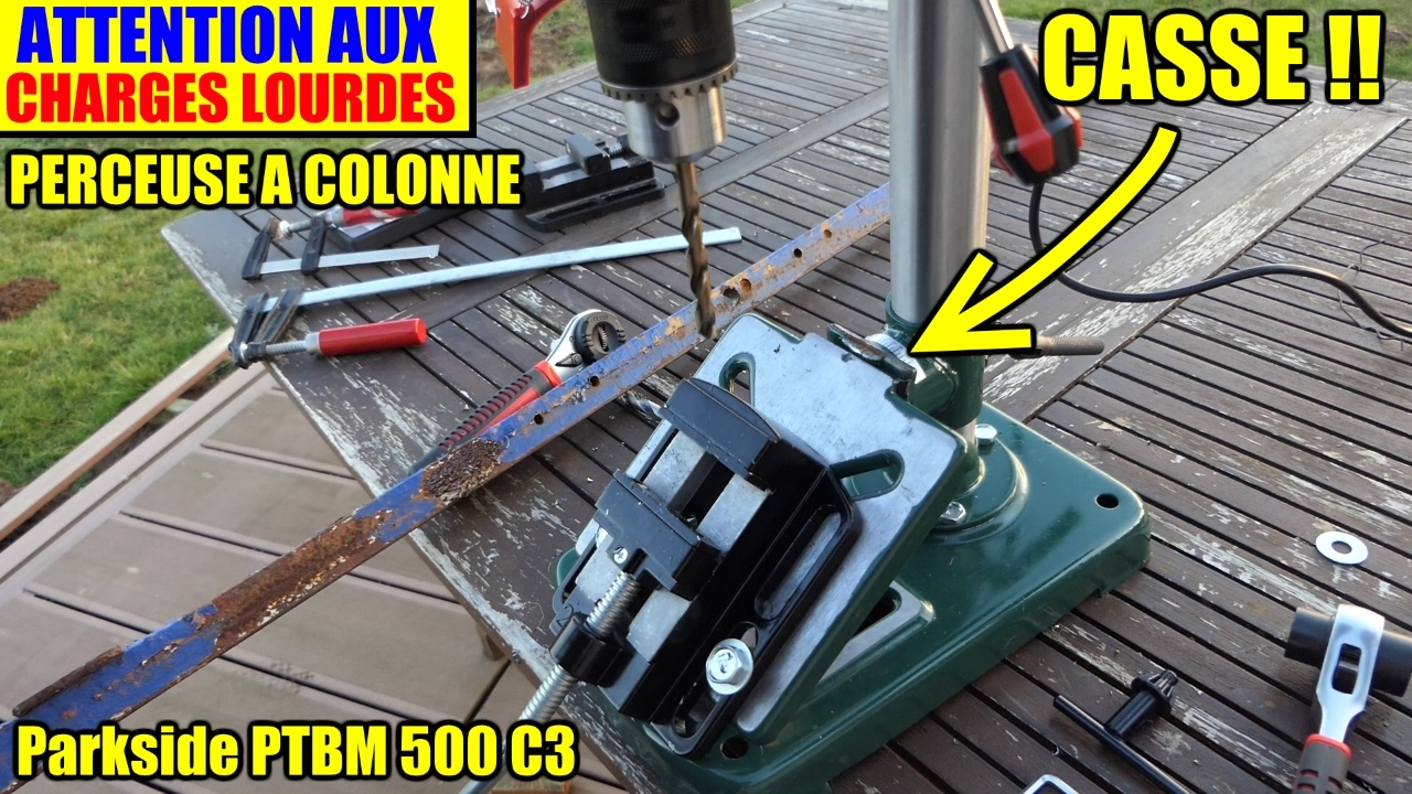 Perceuse A Colonne Attention Aux Charges Lourdes Parkside Ptbm 500 C3 Lidl