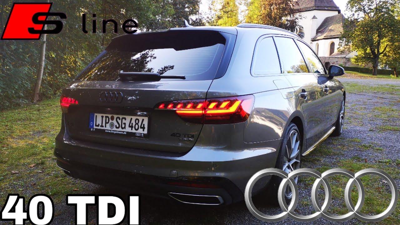 2020 Audi A4 Avant 40 Tdi 190 Ps S Line Facelift Was Ist Neu Pov Review Fahrbericht Youtube