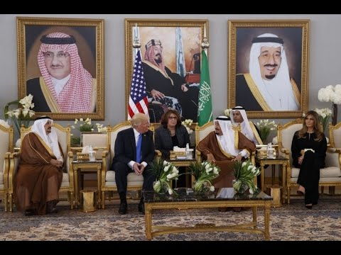 U.S. President Donald Trump  in Saudi Arabia on first foreign trip