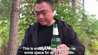 Pangzai's village and tutorial of breaking beer bottles.