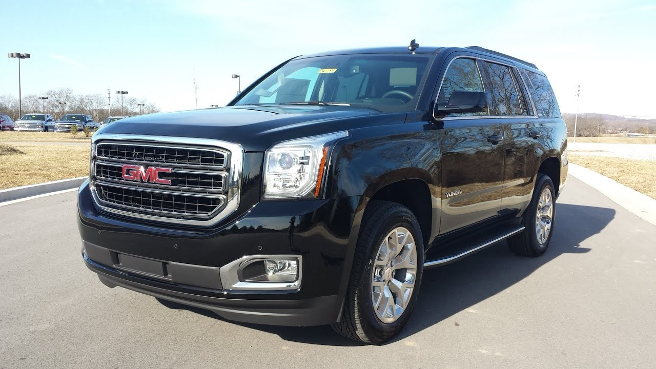 2015 GMC YUKON SLT 4X4 BLACK REVIEW FOR SALE WILSON COUNTY ...