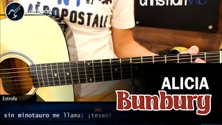 como tocar alicia de bunbury en guitarra acustica acordes tutorial christianvib
