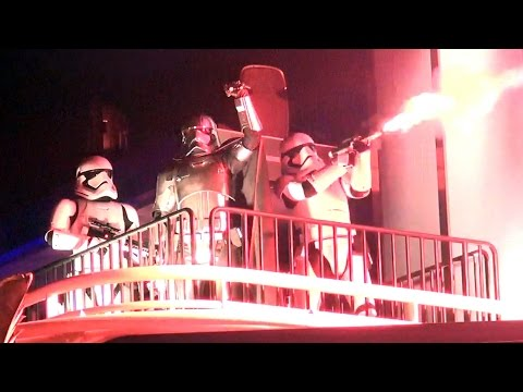 First Order Stormtroopers & Captain Phasma Fireworks Intro at Star Wars Special Event, Disney World