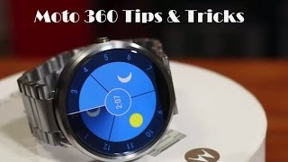 10 Tips and Tricks for Motorola Moto 360 Android Wear Watch(In this video, I will go over 10 tips and tricks for the motorola moto 360 Android Wear Watch. Buy the Moto 360 (Lowest Prices): http://goo.gl/GdI7Xv Click to watch ..., 2015-01-23T08:19:48.000Z)