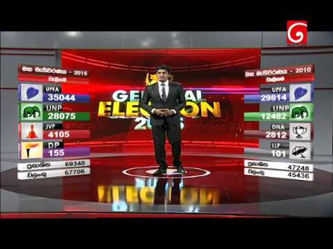 TV Derana Sri Lanka - General Election 2015 Results Augmented